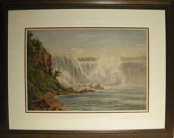 TM MArtin Niagara Falls Watercolour